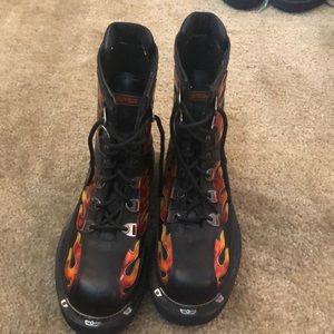 Harley Davidson flame boots size 8.5